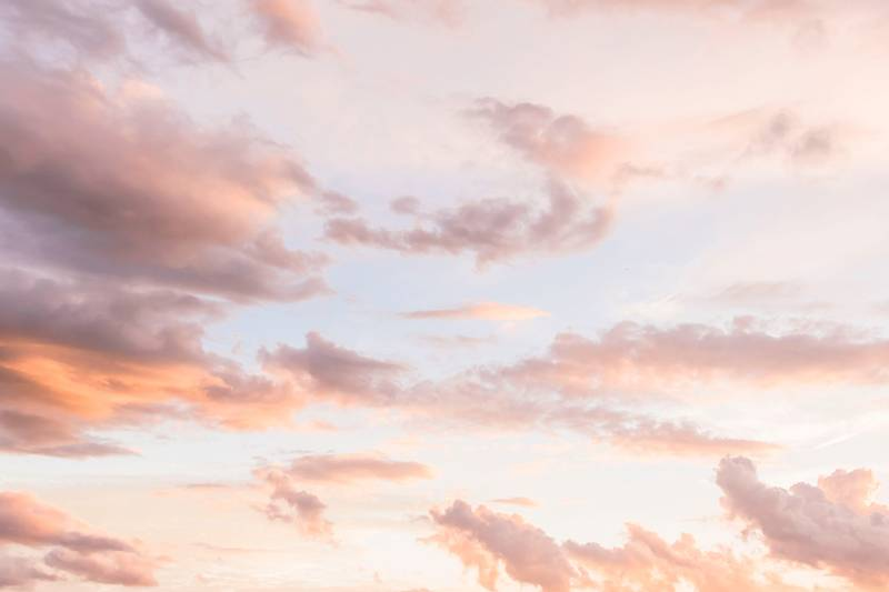 Heavenly Clouds & Spring Sunset