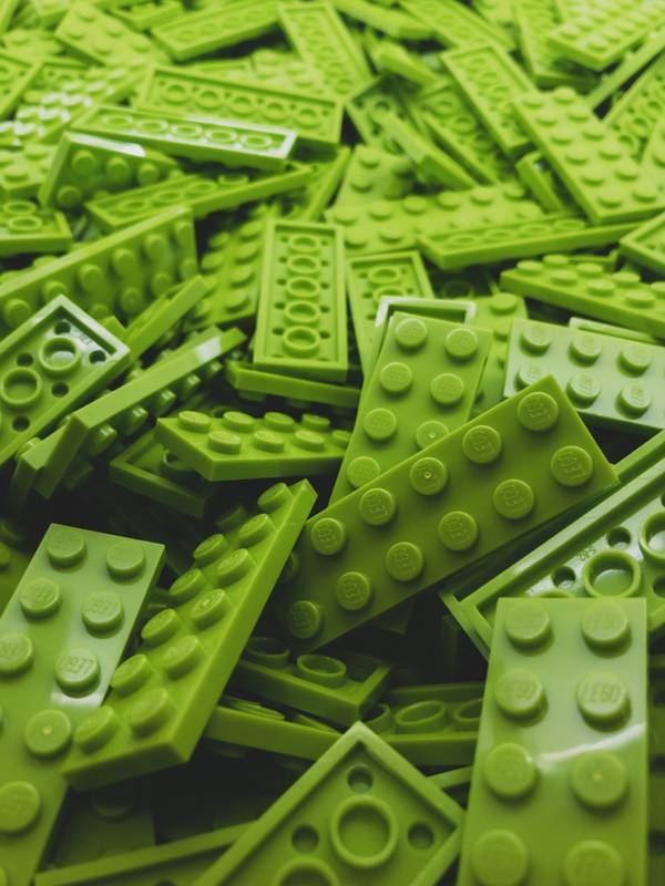 A sea of green Lego. Who doesn't feel happy with that?