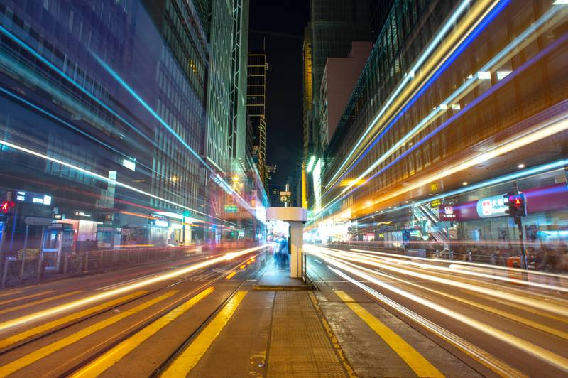 time-lapse photography of street