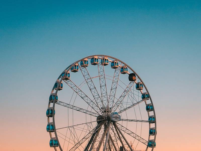 Quick snap of the SkyWheel, a permanent ferris wheel at the edge of Helsinki.